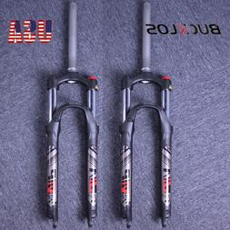 "BOLANY 1-1/8"" Threadless Suspension Fork MTB Bike 26"" 27.5"""