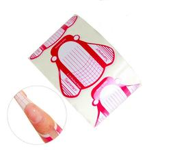 100Pcs Nail Art Tips Extension Forms Guide French DIY Tool A