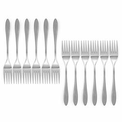 Royal 12-Piece Table Forks Set - 18/10 Stainless Steel Dinne