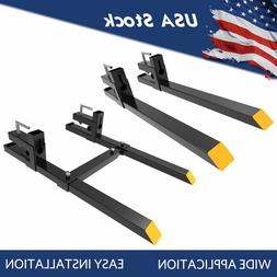 """1500lb/4000lbs Pallet Bucket Forks Clamp On 43""""/60"""" For Load"""