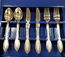 18pc silver ware set 6 spoon 6 fork 6 knife stainless steel