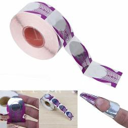 20 Nail Art Purple Guide Forms Acrylic/UV Gel Tips Extension