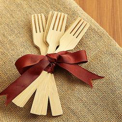 Natural Bamboo FORKS Disposable Party Wedding Dinner Caterin