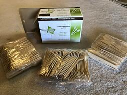 300pc Cutlery Flatware 100% Biodegradable Compostable Dispos
