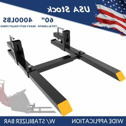 """4000Lbs Tractor Clamp Pallet Forks For Skid Steer Bucket 60"""""""