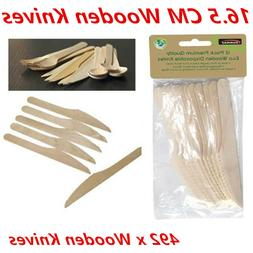 492 X ECO WOODEN CUTLERY BULK CATERING PACK DISPOSABLE FORKS