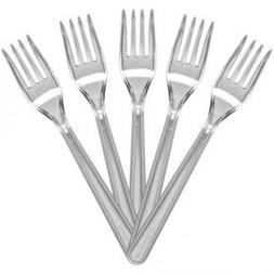 500 x HEAVY DUTY Clear Plastic FORKS Disposable Cutlery Part