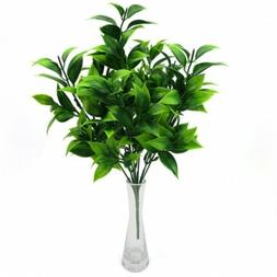 7 Forks Artificial Orange Leaf Simulation Plants Bouquet Hom