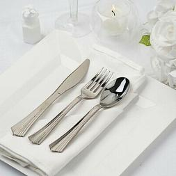 75 SILVER Elegant Forks Spoons and Knives Set Party Wedding