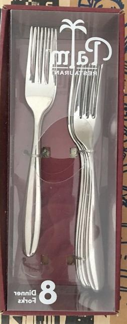 The Palm Restaurant 8 dinner forks Flatware New NOS in the b
