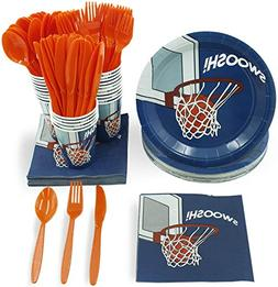 Juvale Basketball Party Supplies – Serves 24 – Includes
