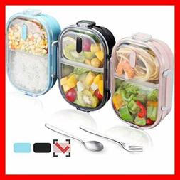 WORTHBUY Bento Lunch Box For Kids 2 Compartments Stainless S
