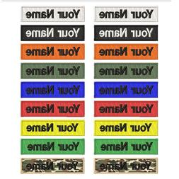 Custom Embroidery Military Name Patch for clothes ,2pcs Hook