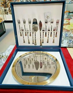 Dessert Cake Platter with Forks and Server-ware Stainless St