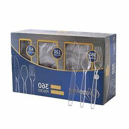 Disposable Cutlery Spoons Forks Knives Plastic Party Cutlery