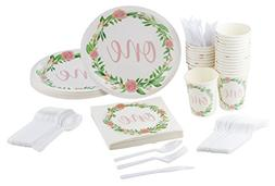 Disposable Dinnerware Set - Serves 24-1st Birthday Party Sup