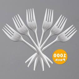 Netko Disposable Plastic Forks - Medium Weight Forks 1000 Pa