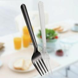 Events 100Pcs Tableware Light Weight Plastic Forks Disposabl