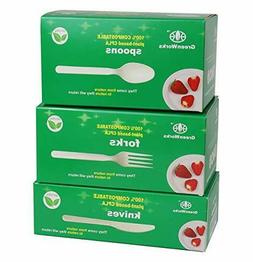 greenworks 300 count 7 biodegradable compostable cpla