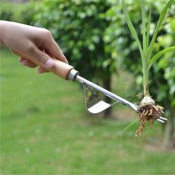 Home Weeder Fork Stainless Steel Hand Wood Handle Digging Pu