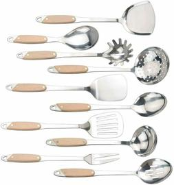Qsbon Kitchen Cooking Utensil Set, Stainless Steel Cooking S