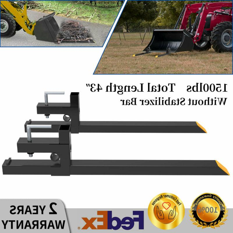 1500lbs 43 tractor bucket pallet forks