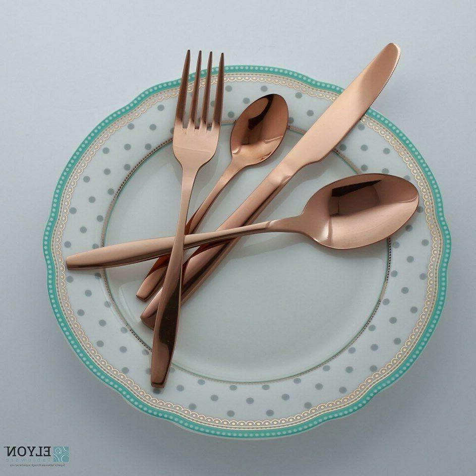4-Piece Copper Reflective Service For