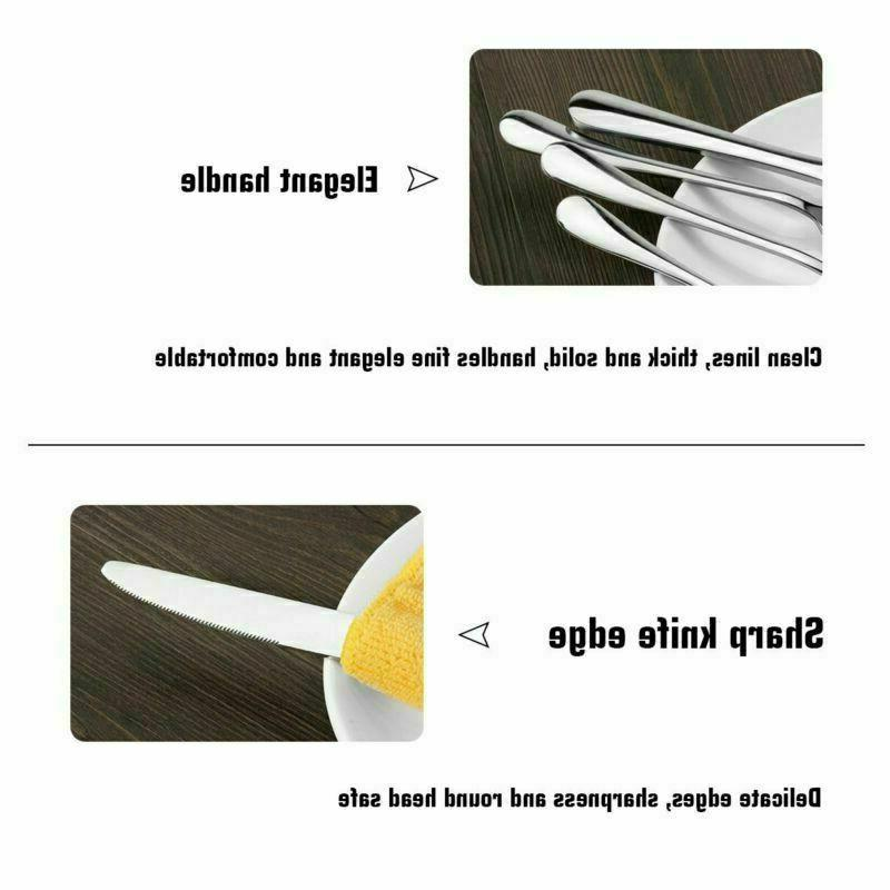 50 Pcs Stainless Flatware Service 8 Cutlery Silverware