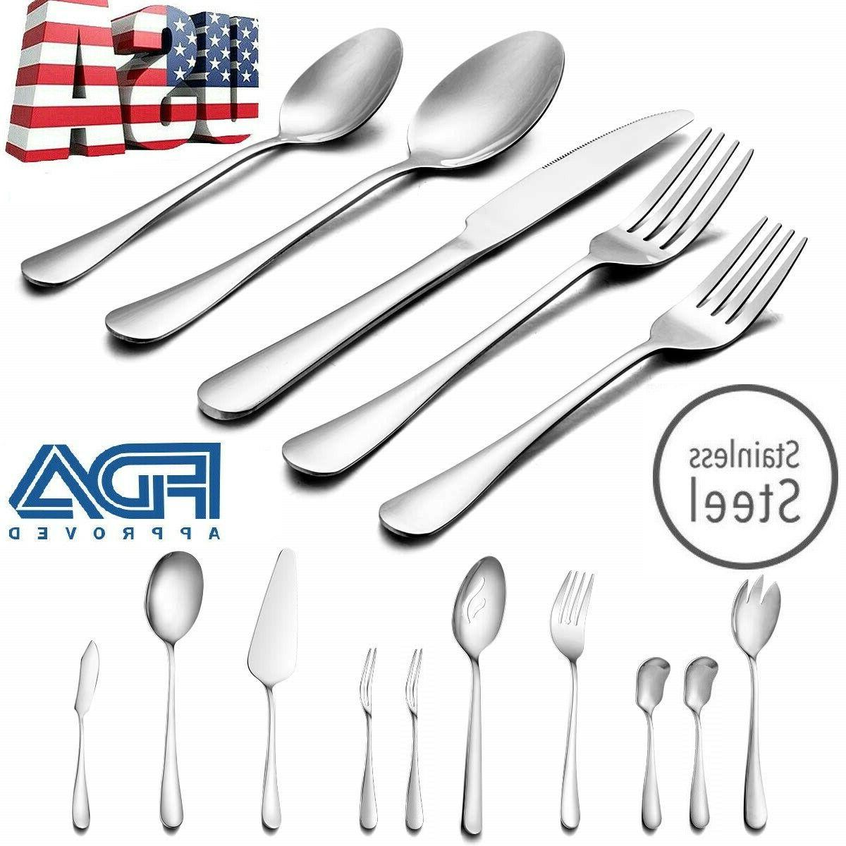 50 pcs stainless steel flatware set service