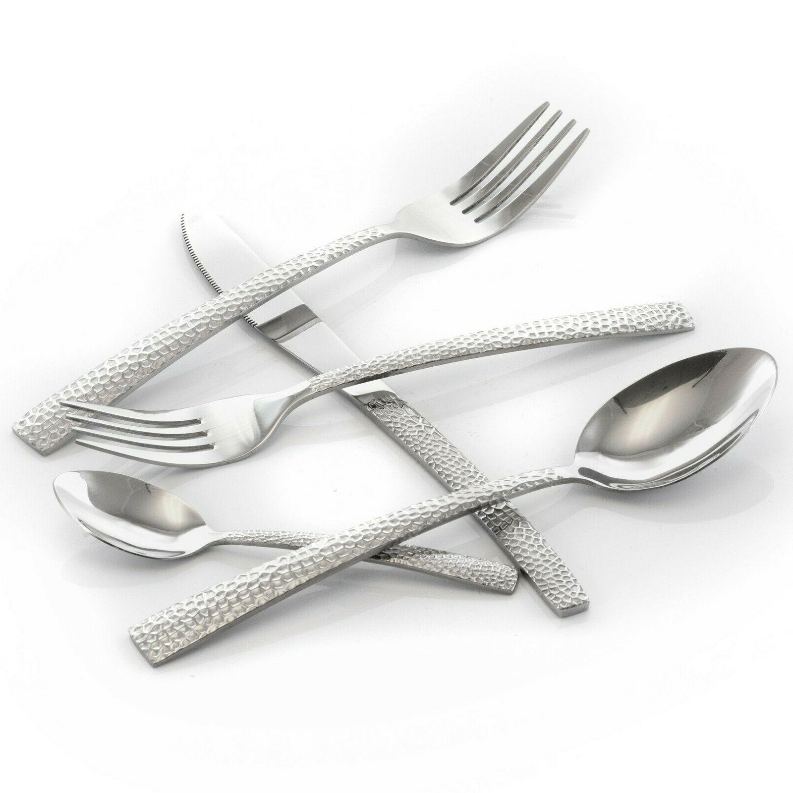 MegaChef Baily Flatware Silverware, Stainless Service for 4