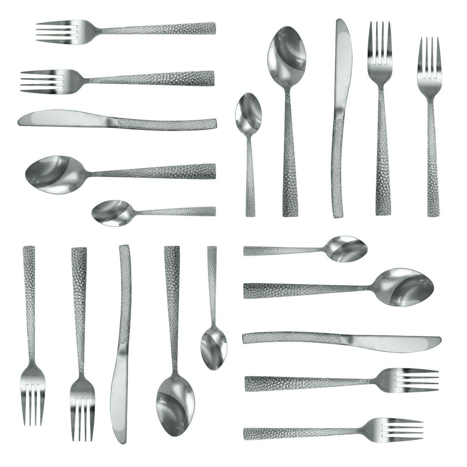 MegaChef Baily 20 Flatware Silverware, Stainless Service for 4