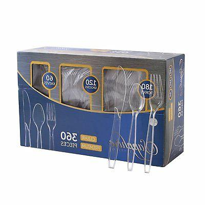 disposable cutlery spoons forks knives plastic party