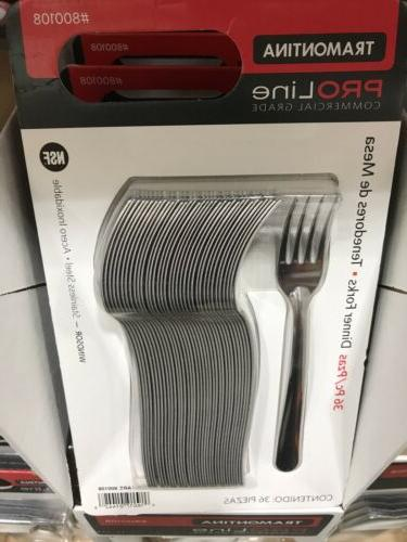lot of 36ct stainless steel dinner forks