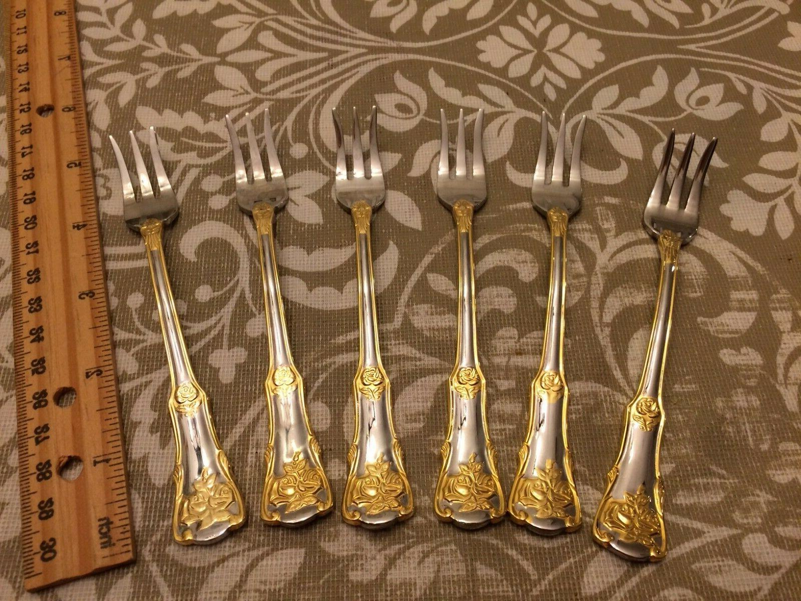 Nice Albert Roses 6 Plated Stainless Steel NEW