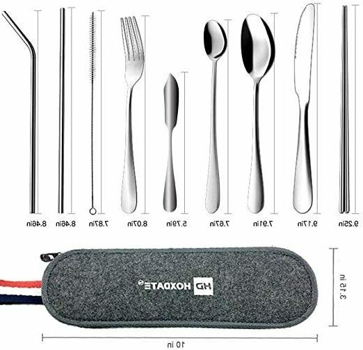 Portable Utensils Cutlery with Cloth Reusabl