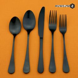 Matte Black Cutlery Stainless Steel Flatware Silverware Fork