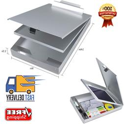 Metal Clipboard Case With Storage Box Aluminum Snapak Form H