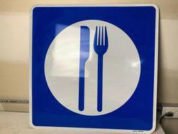 """NEW AUTHENTIC LARGE 30""""x30"""" KNIFE and FORK FOOD RARE ROAD ST"""