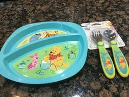 New set/2 First Years Disney Baby WINNIE THE POOH Divided pl