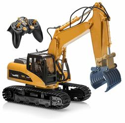 Kids Excavator Construction Tractor Remote Control Toy Cater