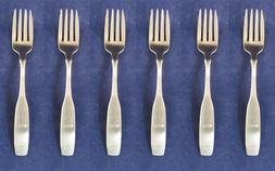 SET OF SIX - Oneida Stainless Flatware PAUL REVERE Salad For