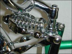 spring fork twisted extended crown chrome beach
