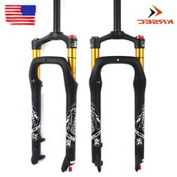"KRSEC Suspension Fork 26*4.0"" Air 120mm Rebound Adjustment M"
