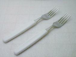 VICTORINOX Switzerland Set of 2 NEW White Handle Dinner Fork