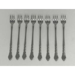 USA SELLER 8 SATINIQUE SEAFOOD FORKS ONEIDA NEW 18/8 Free sh