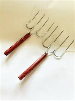 Vintage Turkey Forks PLUS NEW Meat Thermometer / Utensils To