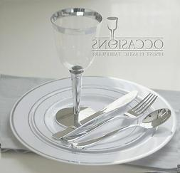 Wedding Party Disposable Plastic  Plates and cutlery & wine