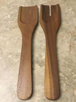 Wooden Fork And Spoon For Cooking And Serving Salad Tongs Fo