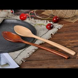 Wooden Spoon Fork Bamboo Kitchen Cooking Utensil Tools Soup-